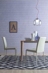 SCARLET, Diseño de la silla tapizada sin apoyabrazos