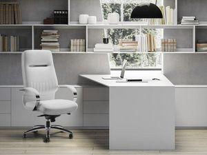SELECTA, Sillón de oficina ejecutiva, base y reposabrazos en acero