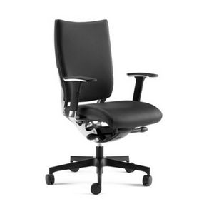 SHINE, Sillón semidireccional con asiento tapizado y respaldo