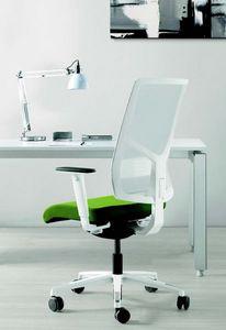11522 Sax, Elegante silla de oficina con base blanca
