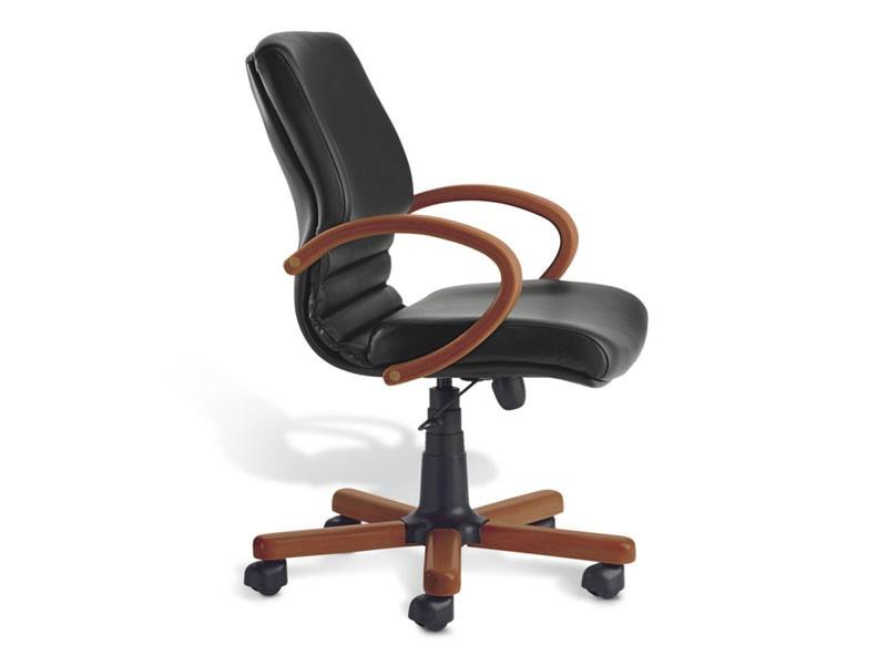 Digital Wood 02, Silla ejecutiva, base de madera, para la oficina