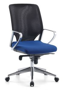 Karian AIR ALU 01, Silla ejecutiva, respaldo en malla, para la oficina