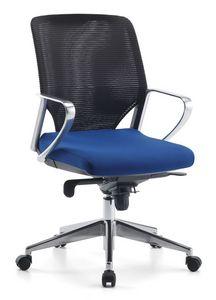 Karina AIR ALU 02, Silla ejecutiva giratoria con ruedas para oficina
