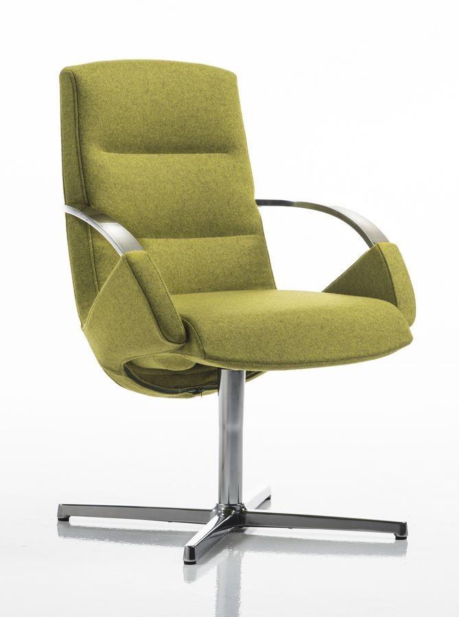 Moon armchair, Silla de oficina elegante, base giratoria con 4 carreras