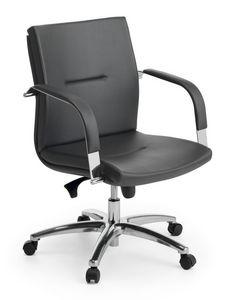 Ottawa 02, Silla ejecutiva, base de aluminio pulido, para la oficina