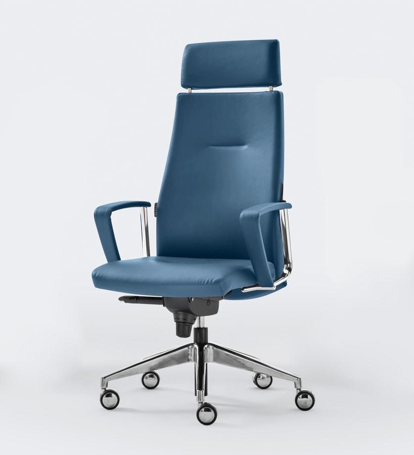 TRENDY, Cómoda silla de oficina ergonómica