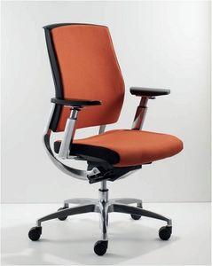 UF 451 / B, Silla ejecutiva moderna con brazos ajustables