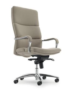 UF 577 / A, Silla con ruedas para oficina, asiento ergonómico acolchado
