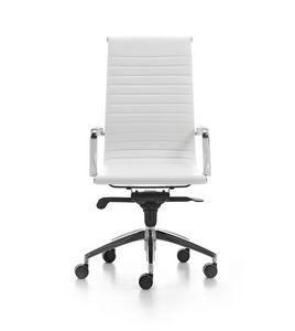 Wind Soft 01, Silla ejecutiva de oficina en las ruedas, apoyabrazos de aluminio