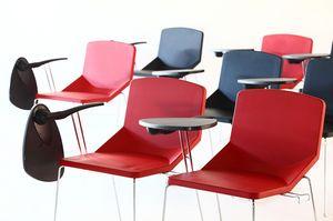 Formula40 sled poly-plus, Silla, ideal para salas de conferencias relleno, puede ser equipado con la tableta de escritura