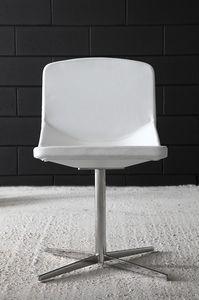 Formula40 x-foot, Silla elegante con un diseño limpio, asiento y respaldo acolchado ignífugo