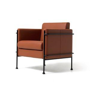 Jazz 1p, Sillón, estructura de acero visible, para sala de estar