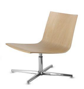 EXEN 242, Silla giratoria con asiento de madera