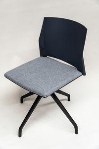 TREK 039X, Silla giratoria con asiento tapizado