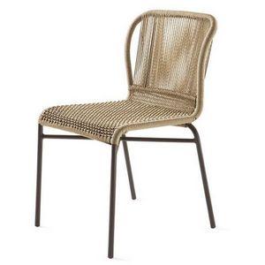 Cricket silla, Silla tejida, estructura metálica, para jardín y bar al aire libre