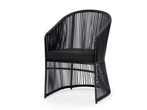 Tibidabo sillón, Cátedra de fibra sintética y de aluminio, para el exterior