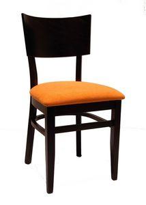 0512, Silla de restaurante, con asiento tapizado en tela
