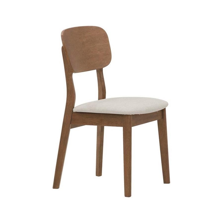 2961, Silla de madera con asiento tapizado
