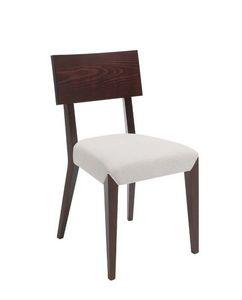 C40, Silla de madera, tapizado y cubiertas de asiento de tela, por contrato y uso dom�stico