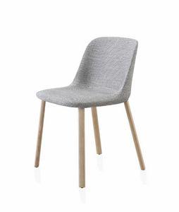 Esse silla, Silla acolchada con patas de madera