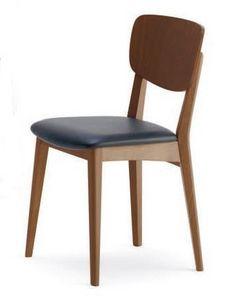 Gianna, Silla de haya, asiento tapizado, para uso empresarial
