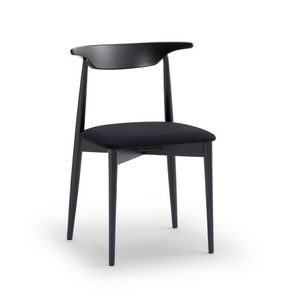 MUSICA, Silla versátil con asiento acolchado, respaldo ergonómico