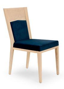Nico PLUS, Silla de madera tapizada elegante