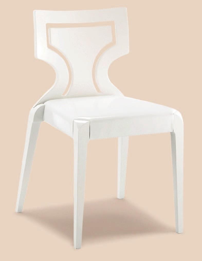 SE 152 / 1, Silla apilable en madera de haya, asiento tapizado, hoteles