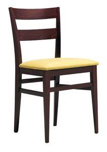 SE 47 / B, Silla de madera con asiento acolchado, para los hoteles