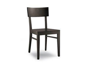 168 madera, Simple silla de madera sólida para el uso del contrato
