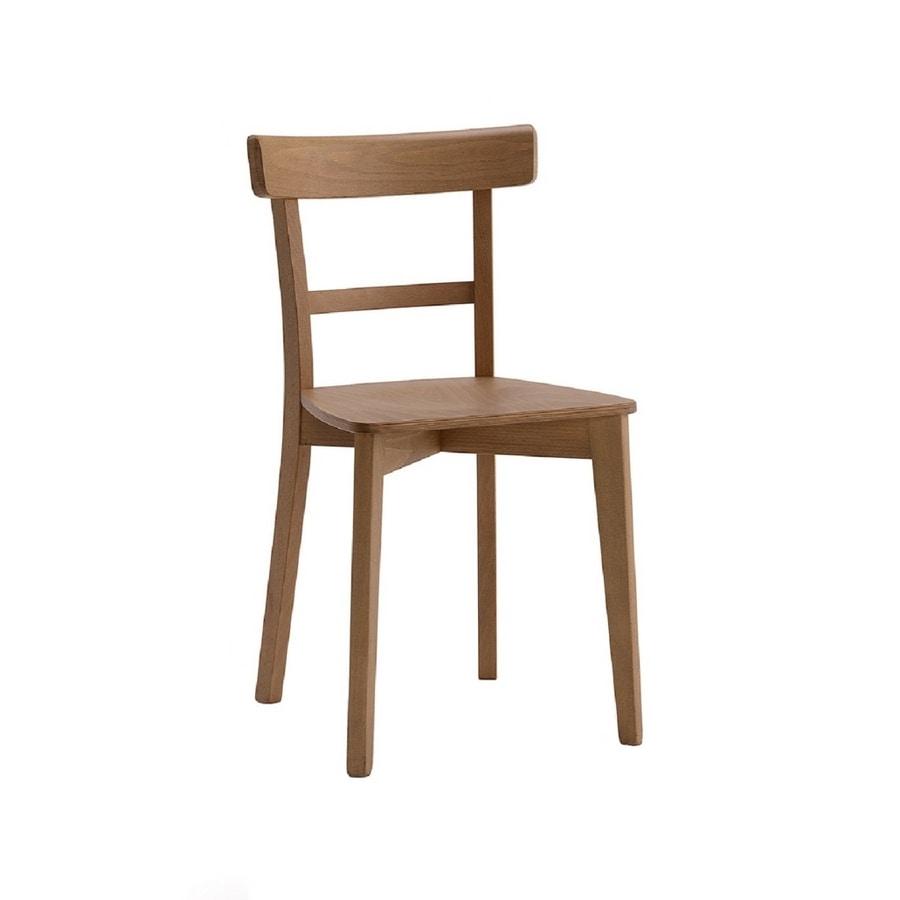 370, Silla de madera de diseño sencillo