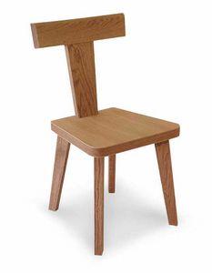 Art. 178/S, Silla de madera, con respaldo en forma de T