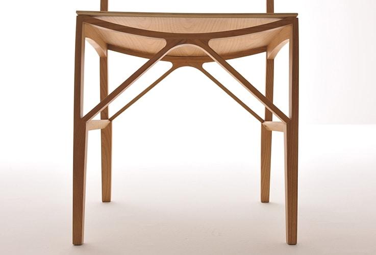Celeste 5196/F, Silla en madera maciza de fresno