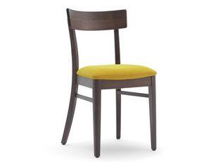 Karen-S, Silla para restaurante con asiento tapizado