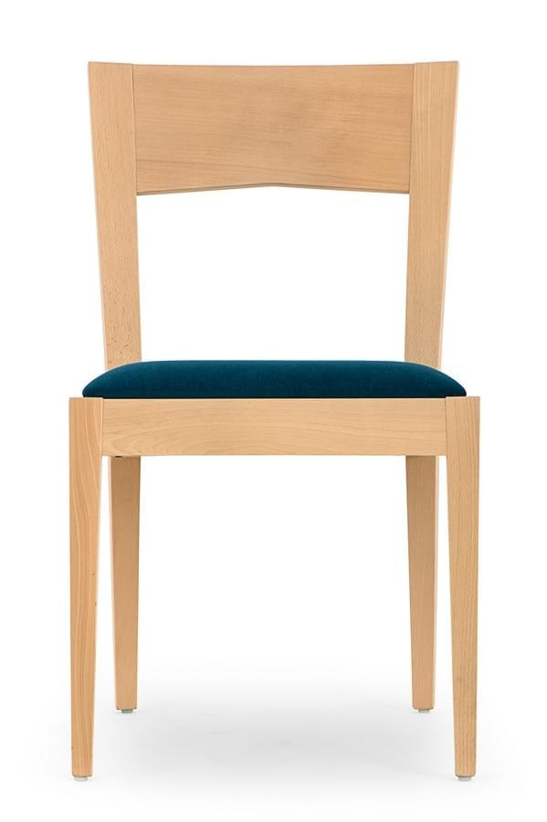 Silla de madera para comedor y bar | IDFdesign