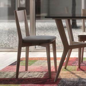Nova NOVA1330TA, Silla de madera con asiento de cuero ecol�gico