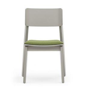 Offset 02812, Silla de madera versátil con asiento acolchado
