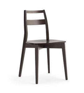 TRIS madera, Silla de madera resistente, con asiento de madera contrachapada