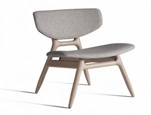 Eco 501T, Chaise longue con asiento tapizado y respaldo