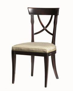 Alexie BR.0205, Silla con asiento de tela, sin apoyabrazos