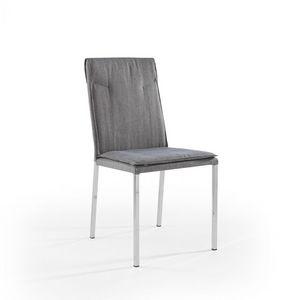 Ariel cromato, Silla con patas cromadas y asiento acolchado