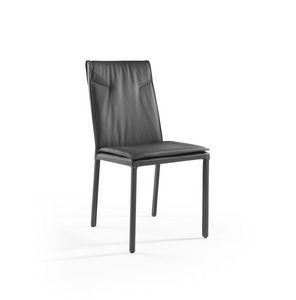 Ariel, Silla de metal con asiento y respaldo tapizados