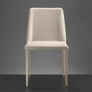 ART. 302 DESIRÉE COVERED, Silla de cuero para el hogar, silla cubierta de piel ecológica para los restaurantes
