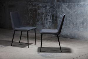 ART. 302 DESIRÉE, Silla moderna para el hogar, silla con el cuerpo tapizado para la cafetería