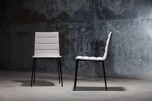 ART. 303 CELINE, Silla de metal para restaurantes, con asiento acolchado