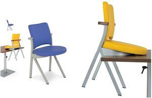 Art.Woox 3, Silla en aluminio pintado o hierro, personalizable
