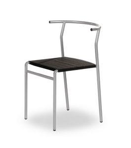 Cafè Chair, Silla apilable, cómoda y robusta.