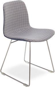 Dama UP, Silla moderna con base de metal, asiento en tejido