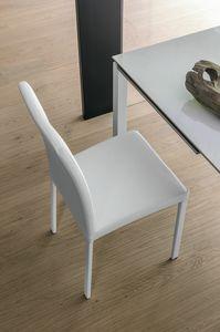 ELISIR SE602, Silla con asiento acolchado y metal cromado piernas