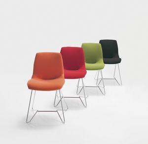 Kaleidos fabric, Metal tapizados silla, en varios colores